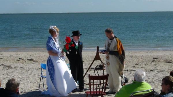 Trouwbelofte op het strand
