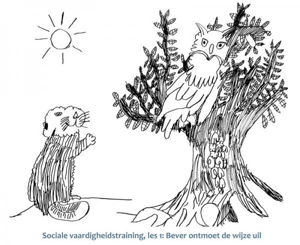 Bever ontmoet uil, sociale vaardigheidstraining