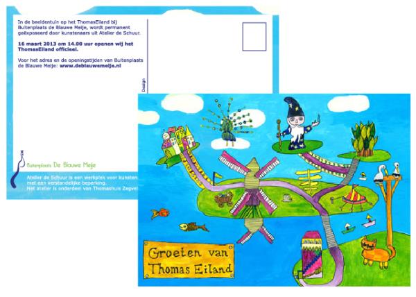 Ansichtkaart - Groeten van ThomasEiland