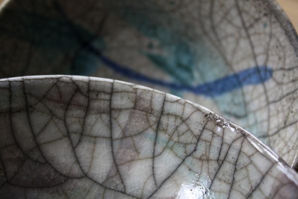 Close-up raku glazuur