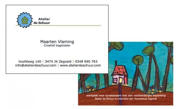 Visitekaartje Atelier de Schuur